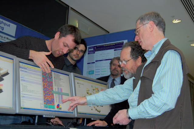 David Abramson (at right) and colleagues show how Nimrod can be applied to scientific problems. Image courtesy of Monash University.